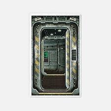 Space Ship Doorway Area Rug