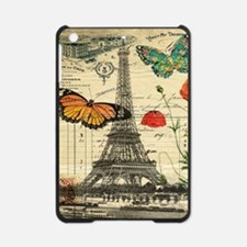 vintage butterfly paris eiffel towe iPad Mini Case