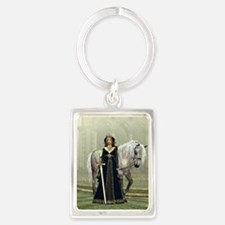 Medieval Lady and Horse Portrait Keychain