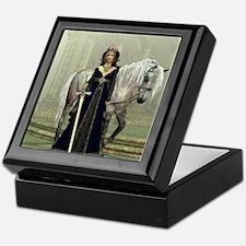 Medieval Lady and Horse Keepsake Box