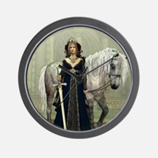 Medieval Lady and Horse Wall Clock