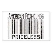 American Foxhound Dog Owner L Sticker (Rectangular