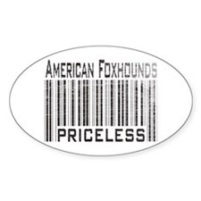 American Foxhound Dog Owner L Oval Decal