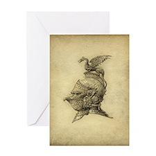 Knight Fantasy Grunge Greeting Card