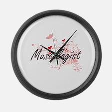 Muscologist Artistic Job Design w Large Wall Clock