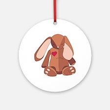 Velveteen Rabbit Round Ornament