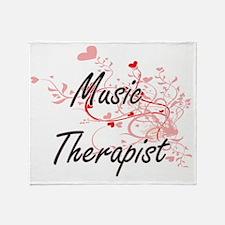 Music Therapist Artistic Job Design Throw Blanket