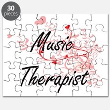 Music Therapist Artistic Job Design with He Puzzle
