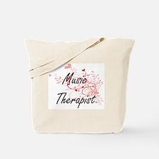 Music Therapist Artistic Job Design with Tote Bag