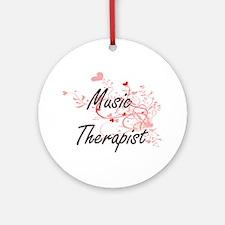Music Therapist Artistic Job Design Round Ornament