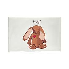 Stuffed Bunny Hug Magnets