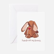 Hands Off Bunny Greeting Cards