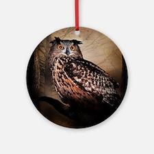 Halloween Owl Round Ornament
