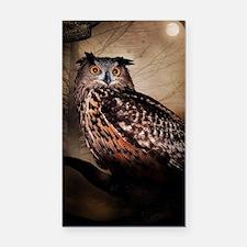 Halloween Owl Rectangle Car Magnet