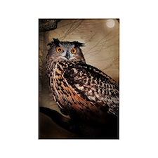 Halloween Owl Rectangle Magnet