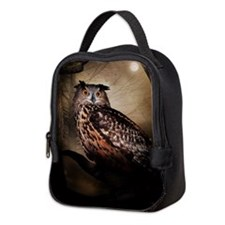 Halloween Owl Neoprene Lunch Bag
