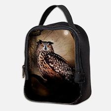 Halloween Owl Neoprene Lunch Bag