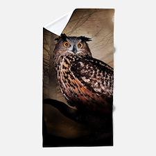 Halloween Owl Beach Towel