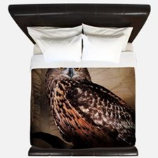 Halloween Owl King Duvet