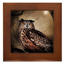 Halloween Owl Framed Tile