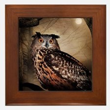 Halloween Owl Framed Tile