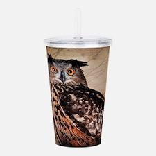 Halloween Owl Acrylic Double-wall Tumbler