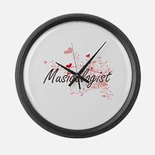 Musicologist Artistic Job Design Large Wall Clock