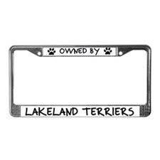 Owned by Lakeland Terriers License Plate Frame