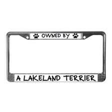 Owned by a Lakeland Terrier License Plate Frame