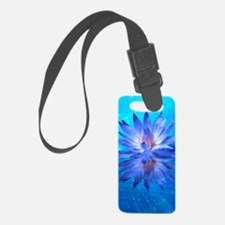 Blue Water Lily Luggage Tag