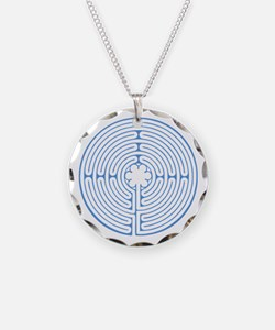 Blue Chartres Labyrinth Necklace