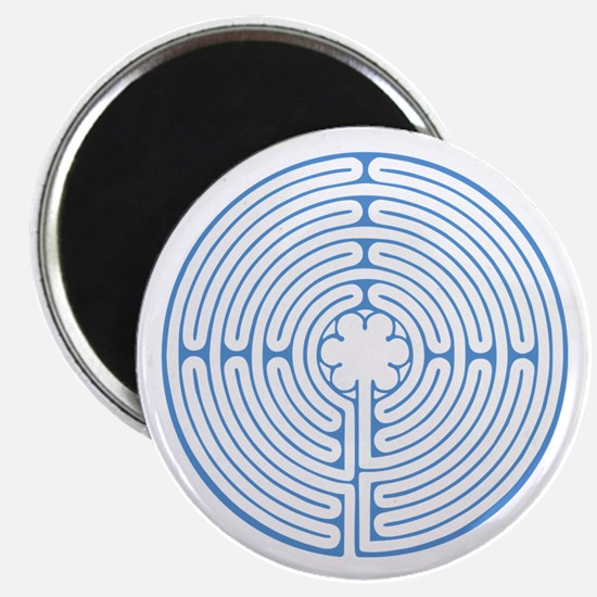 Blue Chartres Labyrinth Magnet