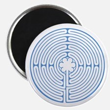 "Blue Chartres Labyrinth 2.25"" Magnet (10 pack)"