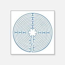"Blue Chartres Labyrinth Square Sticker 3"" x 3"""