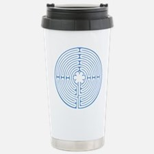 Blue Chartres Labyrinth Stainless Steel Travel Mug