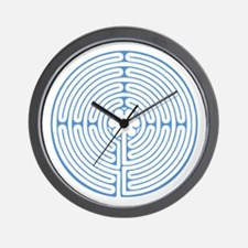 Blue Chartres Labyrinth Wall Clock