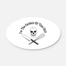 Captain of This Ship Oval Car Magnet