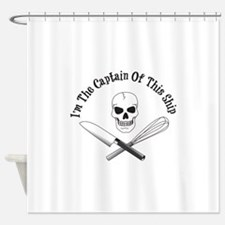 Captain of This Ship Shower Curtain