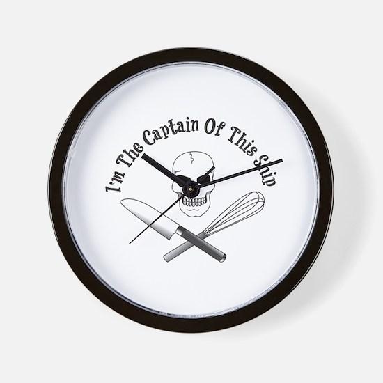 Captain of This Ship Wall Clock