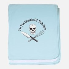 Captain of This Ship baby blanket