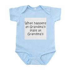 Cute What happens at grandma's Infant Bodysuit