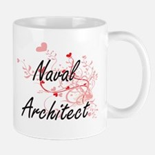 Naval Architect Artistic Job Design with Hear Mugs