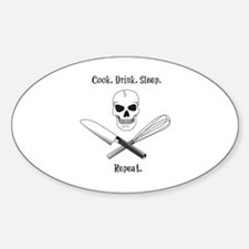 Skull Cook Saying Decal