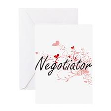 Negotiator Artistic Job Design with Greeting Cards
