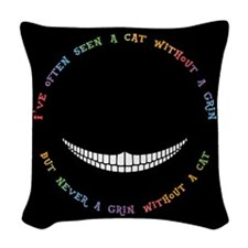Cheshire Grin III Woven Throw Pillow