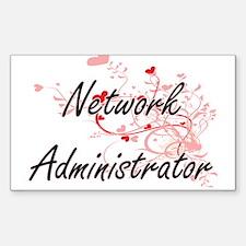 Network Administrator Artistic Job Design Decal