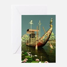 Ancient Egyptian Barge Greeting Card