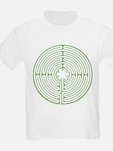 Green Chartres Labyrinth T-Shirt