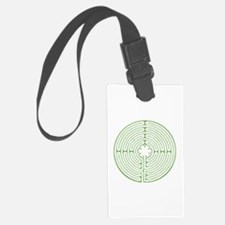 Green Chartres Labyrinth Luggage Tag