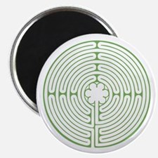 "Green Chartres Labyrinth 2.25"" Magnet (10 pack)"